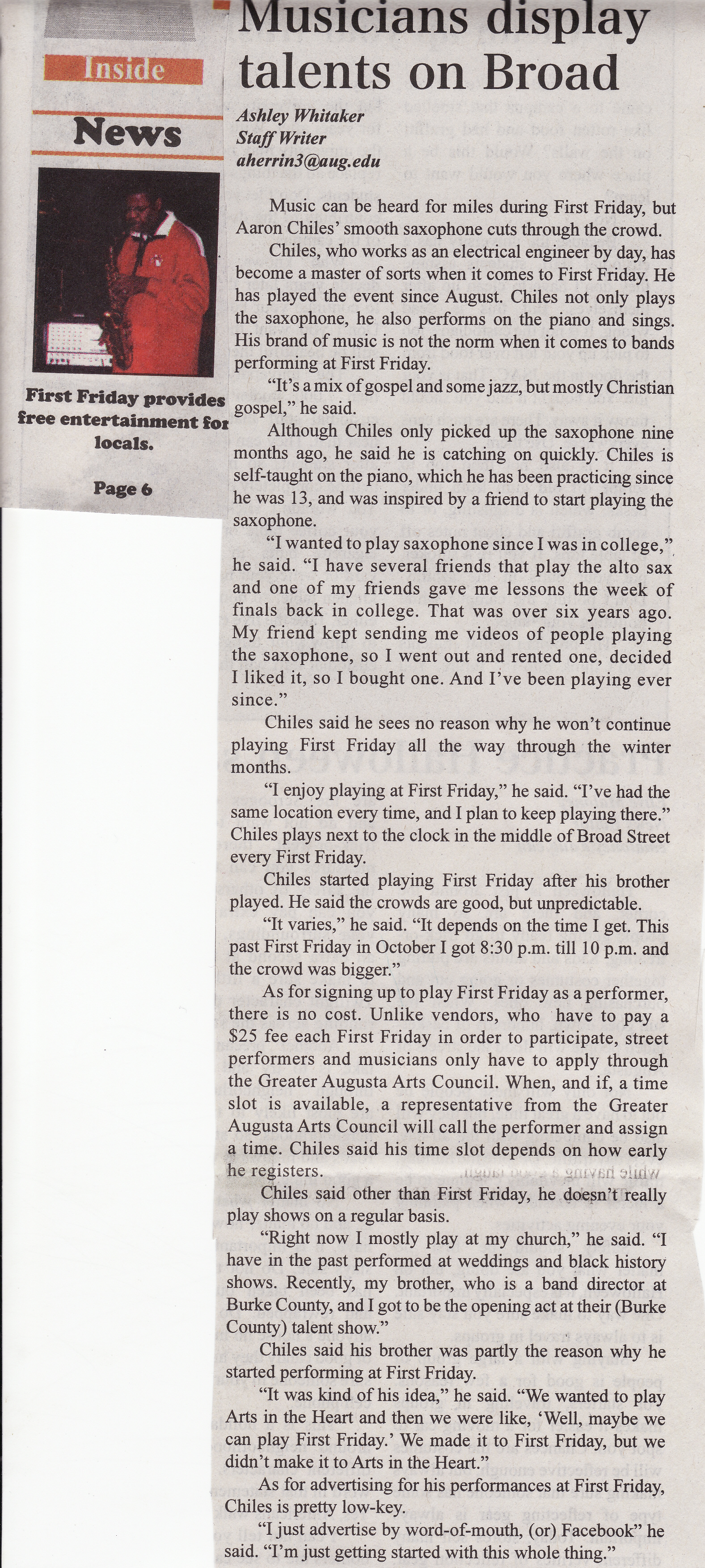 First Friday Article 10-2009